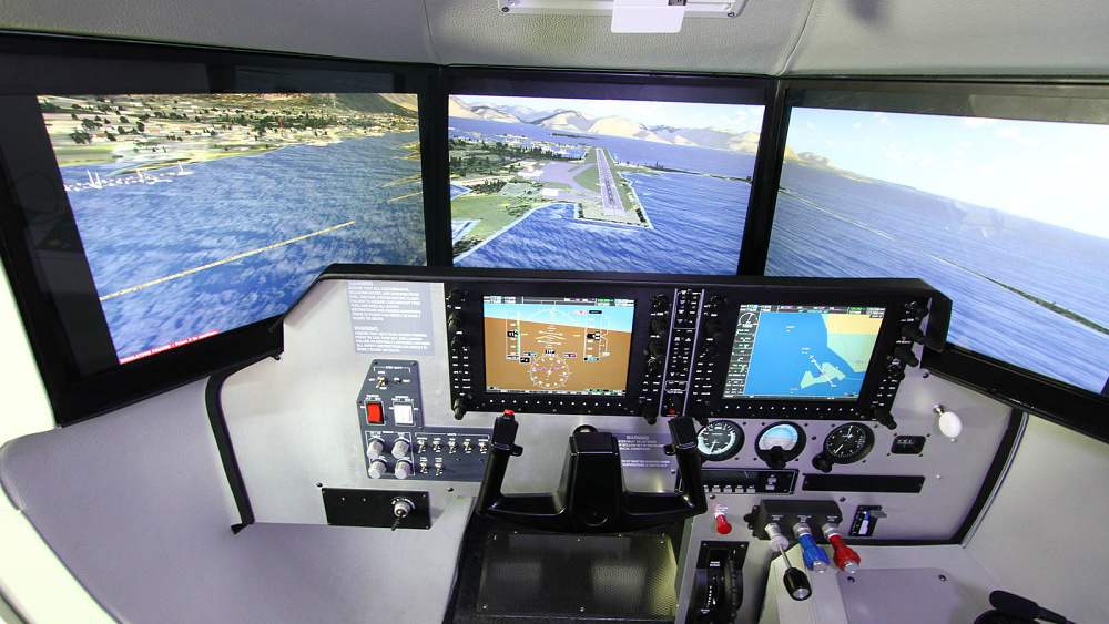 Le Cockpit De Simulation De Vol Tour D Horizon